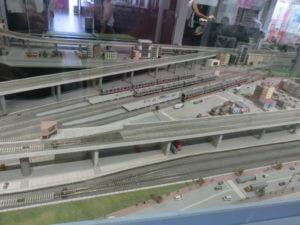 電車とバスの博物館のジオラマワールド