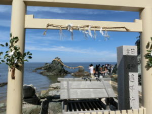 二見興玉神社の日の出遥拝所