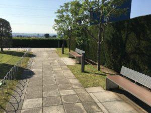 成城コルティの屋上庭園