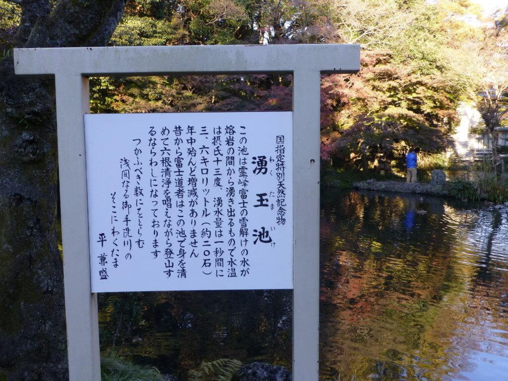 富士山本宮浅間大社の涌玉池